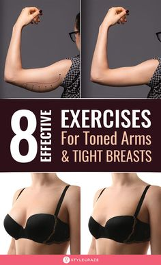 8 Easy Exercises For Beautiful Arms And Tight Breasts We have listed down 8 such exercises which if included in your daily workout routines will help you in achieving those perkier breasts and sleek toned arms Exercises Health Fitness Workout TonedArms # Fitness Workout For Women, Health And Fitness Tips, Body Fitness, Health Tips, Health Benefits, Fitness Plan, Beauty And Fitness, Fitness Bike, Woman Workout