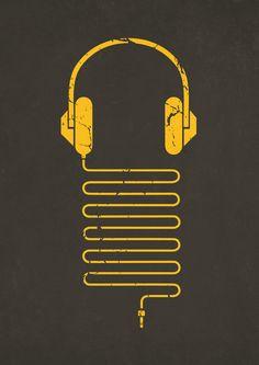 Gold Headphones by Sitchko Igor