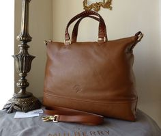 Mulberry Effie Tote in Oak Spongy Pebbled Leather > http://www.npnbags.co.uk/naughtipidginsnestshop/prod_3755806-Mulberry-Effie-Tote-in-Oak-Spongy-Pebbled-Leather-New.html