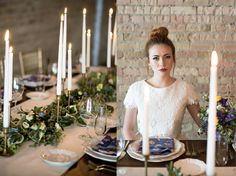 The Whimsical Hipster Bride. Table garland by Native Flower Company.