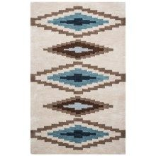 Rizzy Home Tumbleweed Loft Accent Rug - 3x5', Hand-Tufted Wool in Beige Diamond - Closeouts