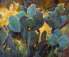 Catus Color by Robert Rohm Oil ~ 20 x 24 Pastel Landscape, Landscape Art, Landscape Paintings, Desert Landscape, Art Beat, Cactus Painting, Cactus Art, Art Floral, Art Occidental