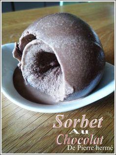 Sorbet chocolat par Pierre Hermé