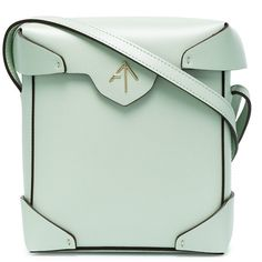 Manu Atelier Mint Pristine Mini cross body bag ($485) ❤ liked on Polyvore featuring bags, handbags, shoulder bags, green, crossbody shoulder bag, cross-body handbag, mint green handbags, mini purse and green crossbody purse