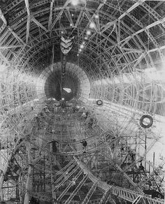 The bones of an airship. 1930 ... USS Akron