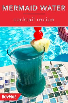 In need of a summer drink idea that's ideal for poolside relaxation? Check out this recipe from BevMo! for a Mermaid Water Cocktail. Made with spiced rum, coconut rum, pineapple juice, blue curacao, and lime juice, this drink is truly tasty. Pineapple Juice, Lime Juice, Tequila, Vodka, Wine And Liquor Store, Blush Wine, Day Schedule, All Beer, Blue Curacao