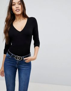 Shop ASOS DESIGN ultimate top with long sleeve and v-neck in black. With a variety of delivery, payment and return options available, shopping with ASOS is easy and secure. Shop with ASOS today. Black Long Sleeve Shirt, Long Sleeve Tops, Asos, Casual Work Outfits, Summer Outfits, Blazer Fashion, Womens Clothing Stores, Blouses For Women, Women's Blouses