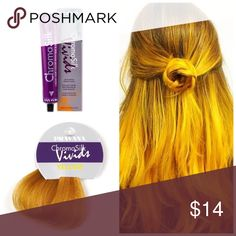 Pravana ChromoSilk Vivid Yellow Semi Permanent ChromaSilk VIVIDS are the most vibrant, long-lasting colors. These Semi-permanent colors and are applied directly to clean, dry, pre-lightened hair and is not mixed with any developer.   Want to bundle more Pravana vivid tubes? I have a wide range of inventory in stock.  Vivids Colors* Red Violet Blue Green Pink Magenta Wild Orchid Yellow  Neon Colors* Neon Pink Neon Orange Neon Yellow Neon Blue Neon Green   Pastel Colors* Luscious Lavender…