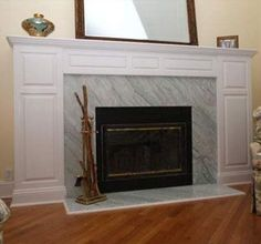 Custom Made Mantle with diagonal stone