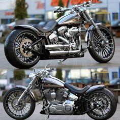 Harley Davidson News – Harley Davidson Bike Pics Harley Davidson Breakout Custom, Harley Davidson Street Glide, Harley Davidson Motorcycles, Custom Motorcycles, Custom Bikes, Custom Choppers, Harley Davidson Scrambler, Scrambler Motorcycle, Motorcycle Gear