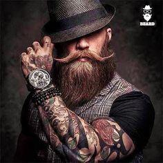 #beard #beardstyle #menstyle #steampunk #tatoo