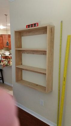 Simple, solid, and sturdy floating bookshelves.