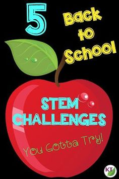 5 Back to School STEM Challenges for Grades Looking for back to school STEM challenges that don't require too many extra supplies? Then check out this post! You'll get five great ideas that you can do right away! Perfect for your First Day Activities, Back To School Activities, Stem Activities, School Ideas, 6th Grade Science, Stem Science, Middle School Science, Life Science, 1st Day Of School
