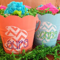 monograms & cake: Spring Bunny Baskets customized with the Silhouette