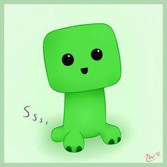 minecraft cute baby creeper - Google Search