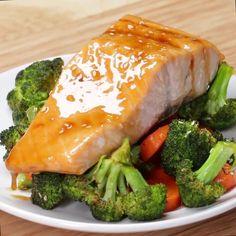 One-pan Teriyaki Salmon Dinner by Tasty