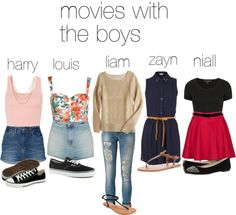 """""""movies with the boys"""" by adriana-diaz ❤ liked on Polyvore"""