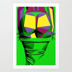 Woman in Green Art Print by Arney Bee - $17.00