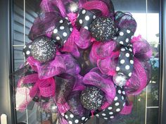 Black and Pink wreath