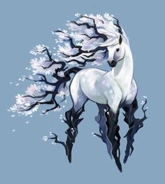 ((Open rp, any creature needed)) *as you walk through the forest to the meadow, you see me trotting along through a clearing, looking majestic and beautiful*
