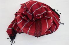 Kybele Herbal Silk Scarf - Flame red Red Scarves, Herbalism, Hand Weaving, Silk, Stuff To Buy, Color, Fashion, Herbal Medicine, Moda