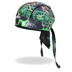 Hot Leathers Authentic Bikers Premium Headwraps High Quality Micro-Fiber /& Mesh Lining HEADWRAP NEON GREEN