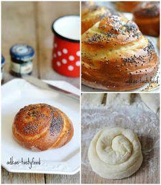 .. chute a vône mojej kuchyne...: Briošky Salty Cake, Bagel, Doughnut, Sweet Recipes, Hamburger, French Toast, Lunch, Bread, Breakfast