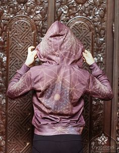 This Womens hoodie features an amazing all over print of original artwork by…