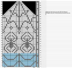 spider-man mitten pattern chart
