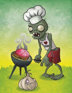 There's a zombie on ur lawnnnn. Zombie Birthday, Zombie Party, Plants Vs Zombies, P Vs Z, Plantas Versus Zombies, Zombie Princess, Zombie Brains, Cute Zombie, Creepy Houses