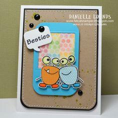 Besties washi tape card
