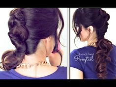 ★CUTE HAIRSTYLES |  EVERYDAY FRENCH TWIST-AROUND PONYTAIL| UPDOS FOR MEDIUM LONG HAIR TUTORIAL