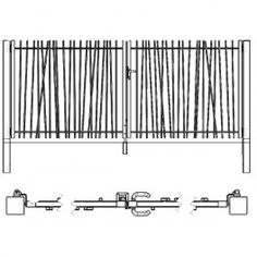 CreaZen : Le portail design barreaudé Exterior Sliding Barn Doors, Fence Doors, Rail Fence, Fence Design, Garden Gates, Grills, Outdoor Rooms, Fences, Radiators