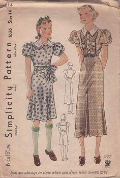 $28.99 vintage 30s day dress, NRA symbol on envelope