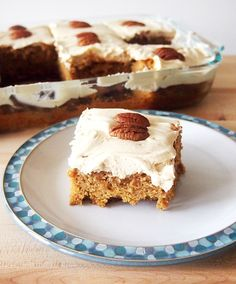 Sweet Potato Sheet Cake with Vanilla Bean Cream Cheese Frosting