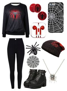 """""""SpiderMan"""" by sup-its-alex-peace ❤ liked on Polyvore featuring River Island, rag & bone and J. Herwitt"""