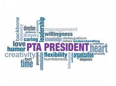 PTA president word cloud.
