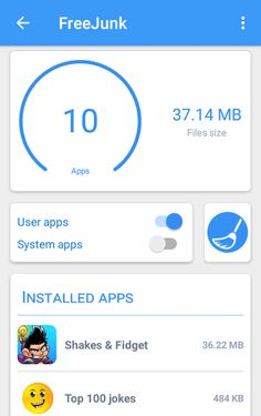FreeJunk : Junk Cleaner v1.0.3 [Pro]   FreeJunk : Junk Cleaner v1.0.3 [Pro] Requirements:4.4 Overview:A light and powerful junk cleaner which deletes all junk files and frees up storage space and optimizes the performance of your Android phone. All apps in your phone have in theircachemany unnecessary junk files which reduces the available storage space and slows down your phone .  This app is a powerful cleaner that deletes all junk files and frees up storage space and optimizes the…