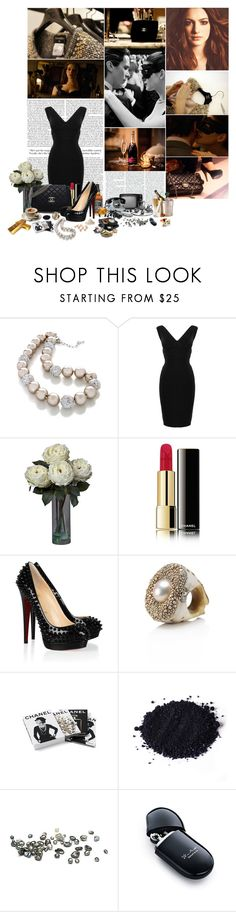 """Want to be god, the devil like me? Do you want to surrender or fight for victory?"" by ithinkinblack ❤ liked on Polyvore featuring Chanel, Hervé Léger, Christian Louboutin, Mesi Jilly, Mineral, Elsa Peretti and Katie"