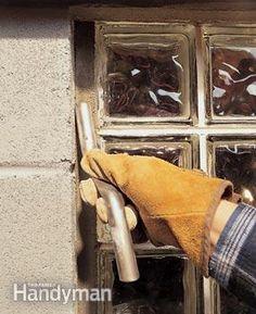 Installing Glass Block Basement Windows