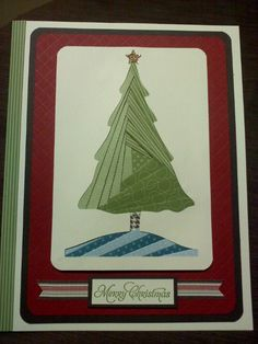 Iris folded Christmas card created on a 8 1/2 x 11 card.  This was challenging to find a focal point big enough to fill the card. Thank goodness for my Cricut and Stampin' Up papers.