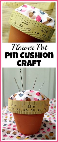 So easy to make! Keep your pins and needles organized with this cute DIY flower…