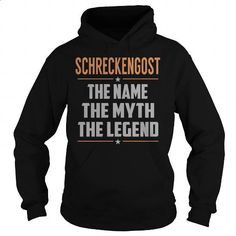 SCHRECKENGOST The Myth, Legend - Last Name, Surname T-Shirt - #food gift #hoodies/jackets. BUY NOW => https://www.sunfrog.com/Names/SCHRECKENGOST-The-Myth-Legend--Last-Name-Surname-T-Shirt-Black-Hoodie.html?60505