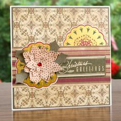 Dovecraft Glad Tidings Paper Kit - Includes 12x12 and 8x8 Paper Packs, Adhesive Pearls, Clear Stamps, Paper Doilies, Stickers, Cards and Envelopes (140401) | Create and Craft