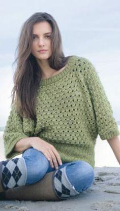 Familie Journal - strikkeopskrifter til hende Knitting Patterns Free, Free Knitting, Cardigans, Sweaters, Shopping Sites, Knitwear, Knit Crochet, Turtle Neck, Pullover