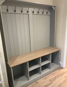 Our Boot Room Benches are the perfect way to keep organised. A versatile, practical and elegant solution for any hall, utility room, boot room or kitchen. The solid oak seat doubles houses plenty of storage space for all your boot room bits and pieces. Boot Room Storage, Utility Room Storage, Porch Storage, Ikea Utility Room, Ikea Mud Room, Storage Bench Seating, Mud Rooms, Diy Bench With Storage, Utility Room Sinks