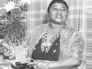 """The first black woman to sing on the radio in the USA, Hattie McDaniel was also much in demand to play benevolent maid/housekeepers in  films of the 1930s and 40s. She was also the first African-American performer to win an Academy Award--for her supporting role as Mammy in """"Gone With the Wind"""" (1939).  When McDaniel was criticized by the NAACP for her penchant for playing servants in films, she reportedly replied: """"I'd rather play a maid on film than be force to work as one in real life."""""""