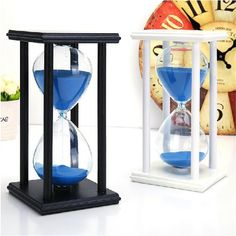 1Pcs 20.5x10cm Fashion Modern Wooden 60 Minutes 1 Hour Sandglass Hourglass Timer Clock Xmas Toys Birthday Gift Home Decor-in Hourglasses from Home & Garden on Aliexpress.com | Alibaba Group