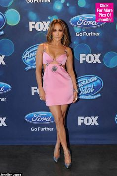 Jennifer Lopez Stuns in a Plunging Pink Dress on 'American Idol' -- See Her Sexy Look! - - Jennifer Lopez Stuns in a Plunging Pink Dress on 'American Idol' — See Her Sexy Look! Source by Jenifer Lopes, Jennifer Lopez Body, Jennifer Lopez Dress, Jennifer Lopez Photos, Pink Mini Dresses, Pink Dress, Lopez Show, J Lo Fashion, Rare Fashion