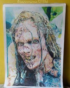 My fanart for the walker from The Walking Dead. The Walking Dead, Fanart, Drawings, Instagram Posts, Artwork, Painting, Work Of Art, Auguste Rodin Artwork, Painting Art